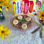 Шоколадно-банановая каша на завтрак