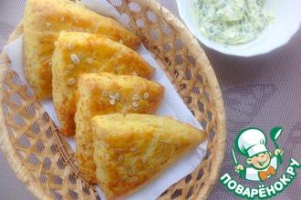 Рецепт: Сконы с сыром и луковым маслом