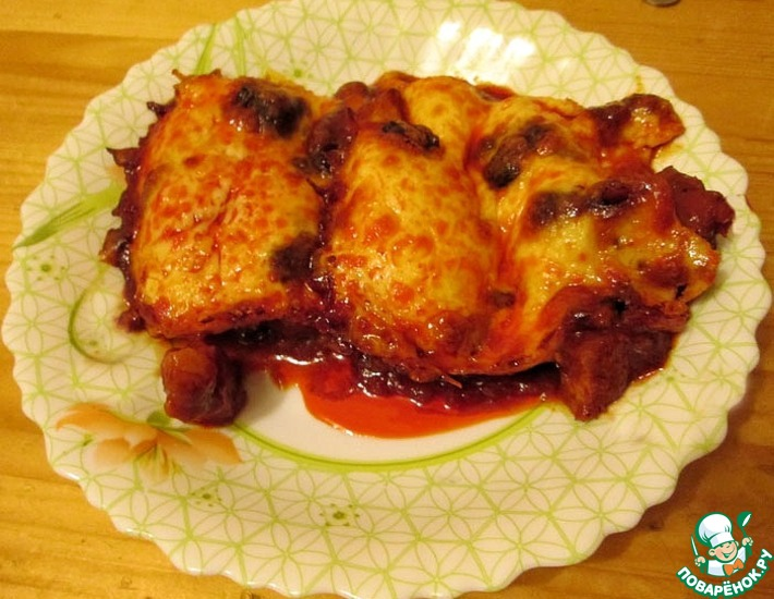 Рецепт: Свинина под соусом Рэда