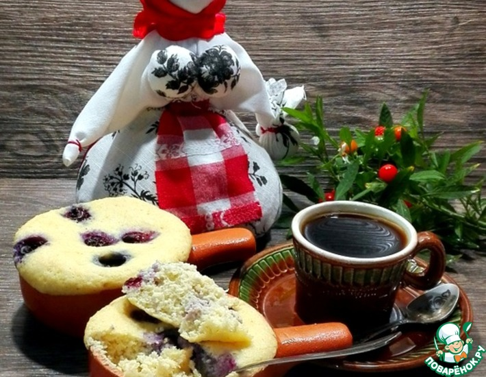 Рецепт: Запеканка с пшёнными хлопьями и ягодами