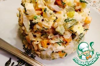 Рецепт: Салат из отварной рыбы