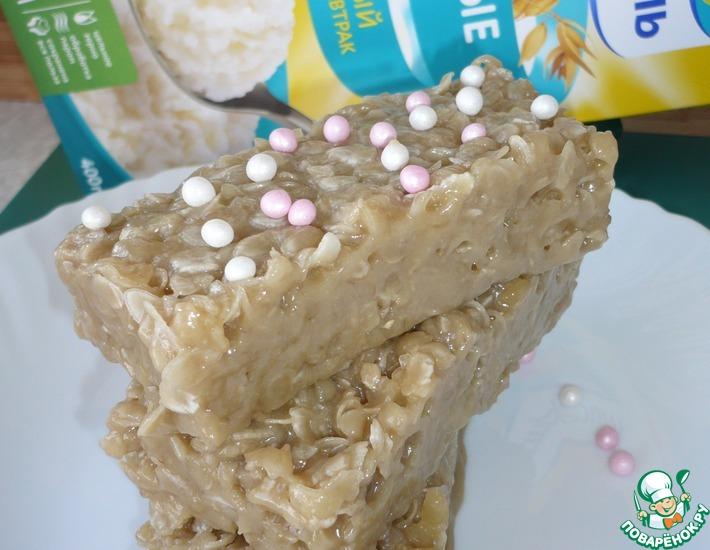 Рецепт: Десерт из рисовых хлопьев
