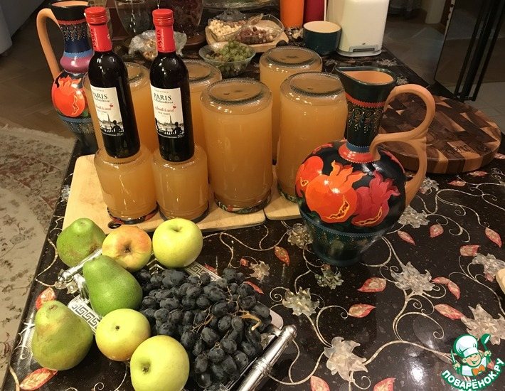 грушевый сок без соковыжималки