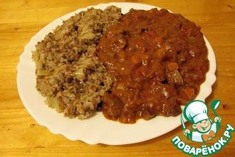 Рецепт: Подливка из баранины с овощами