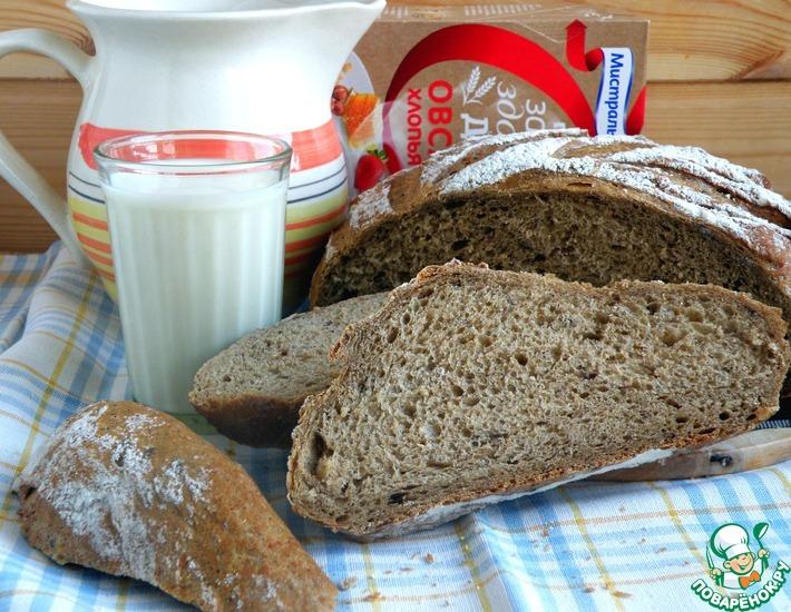 Рецепт: Хлеб с хлопьями и отрубями
