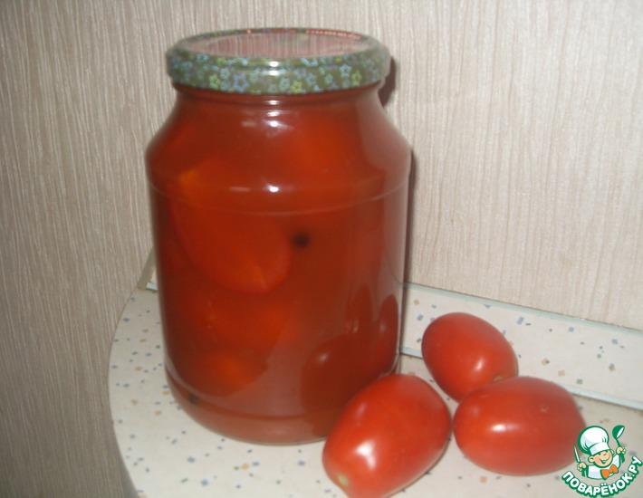Рецепт: Помидоры в томате Некондиция