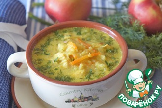Рецепт: Куриный суп с яблоками