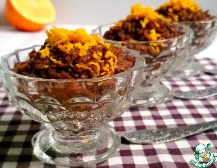 Рецепт: Каша-десерт с апельсином и какао