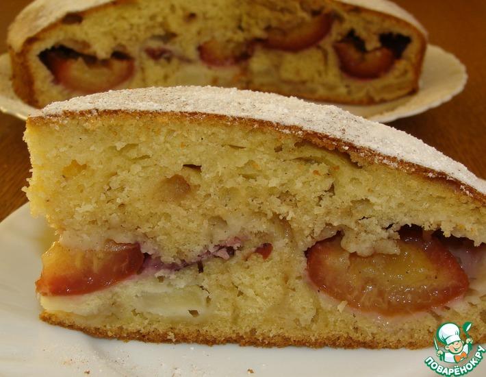 Рецепт: Сливово-яблочный пирог с перцем