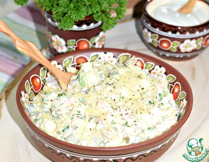 Рецепт: Салат с ветчиной Осенний