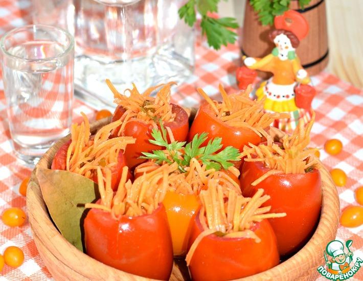 Рецепт: Фаршированные помидоры Закусочные
