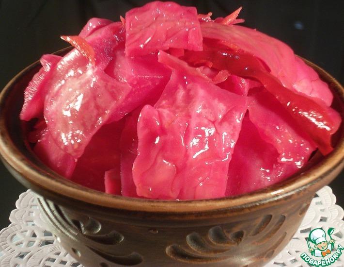 Рецепт: Маринованная капуста Пелюстка