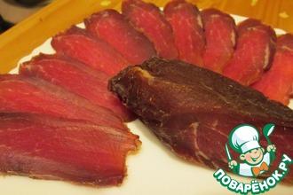 Рецепт: Сыровяленая свинина в условиях квартиры