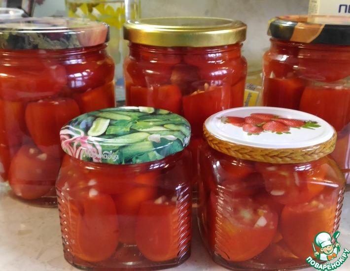 Рецепт: Квашеные помидоры с чесноком