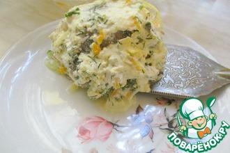 Рецепт: Минтай в сливочно-овощном соусе