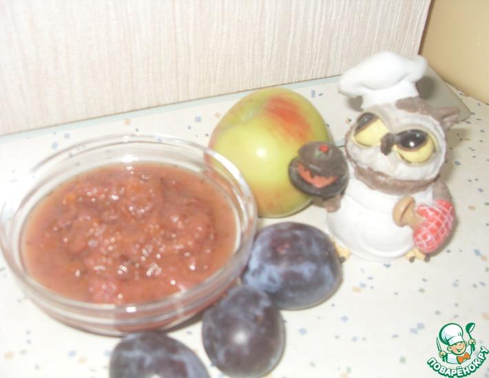 Рецепт: Икра-заправка Сливово-кабачковая