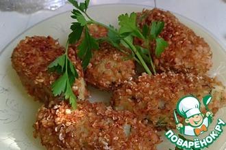 Рецепт: Картофельные котлеты с сыром и зеленью