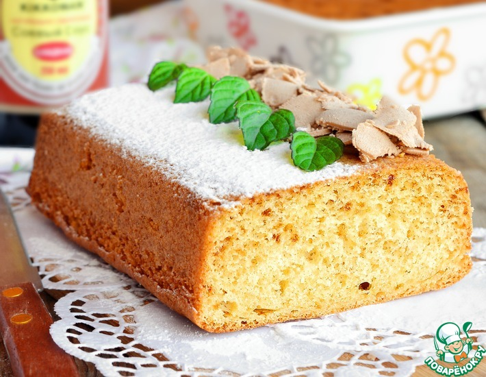 Рецепт: Пушистый медовый бисквит