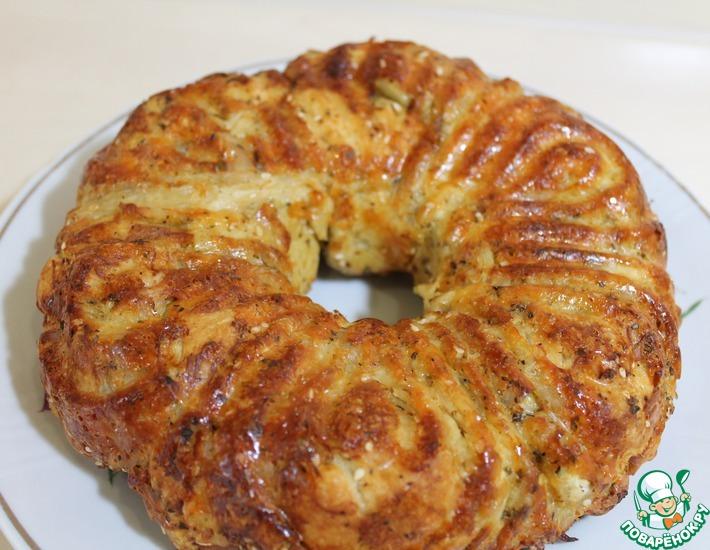 Рецепт: Пирог с мясом и сыром