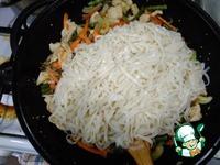 Лапша удон с курицей и овощами ингредиенты