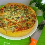 Пирог с цветной капустой и грибами