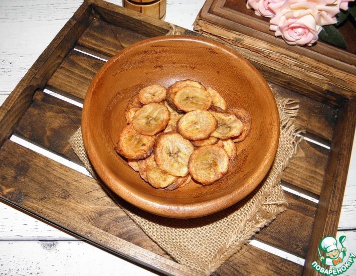 Рецепт: Банановые чипсы