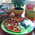 Овсяно-кабачковый открытый пирог а-ля пицца