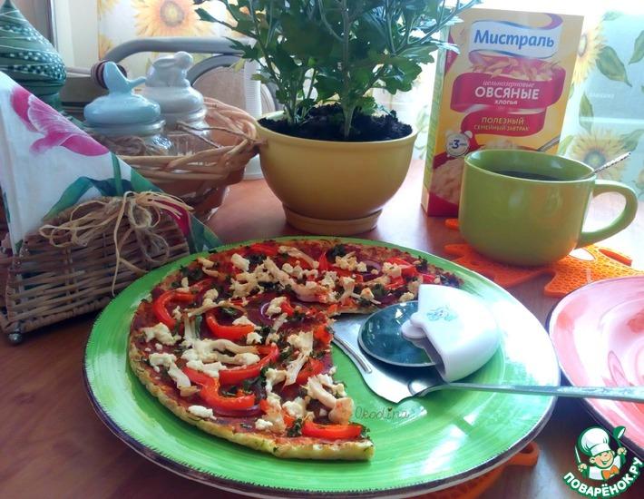 Рецепт: Овсяно-кабачковый открытый пирог а-ля пицца