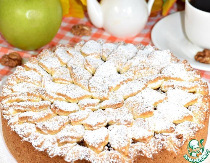 Рецепт: Пирог яблочный Сентябрь