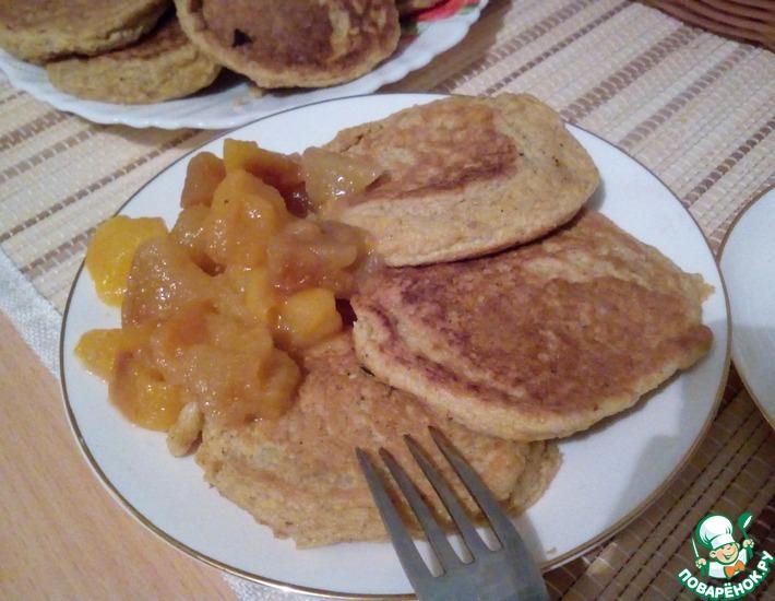 Рецепт: Морковно-гречневые оладьи на белках