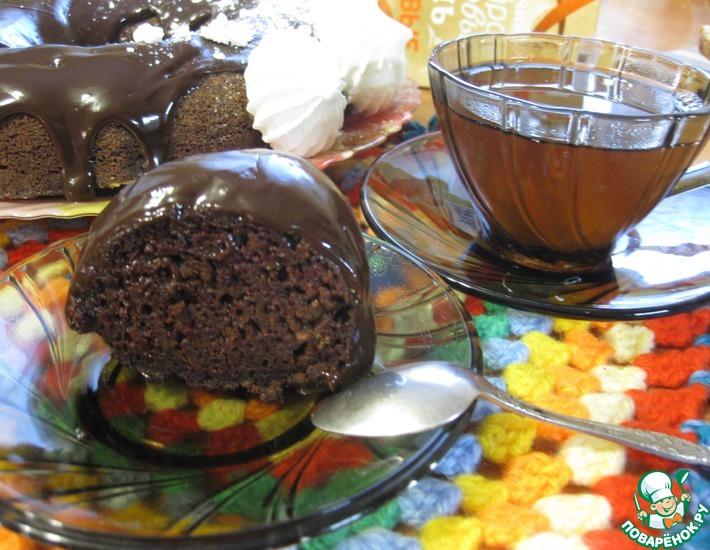Рецепт: Шоколадный кекс Загадка