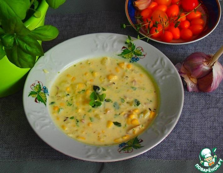 Рецепт: Суп с кукурузой