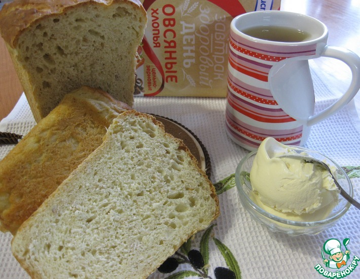 Рецепт: Творожно-овсяный хлеб с тмином Деревенский