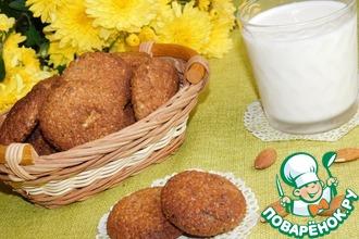 Рецепт: Овсяное печенье с миндалем и шоколадом