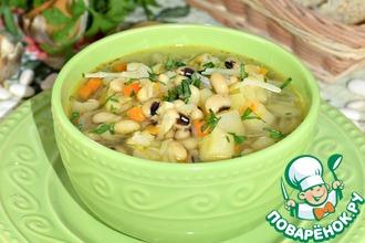 Рецепт: Капустный суп с фасолью