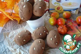 Рецепт: Пирожное Картошка с овсяными хлопьями