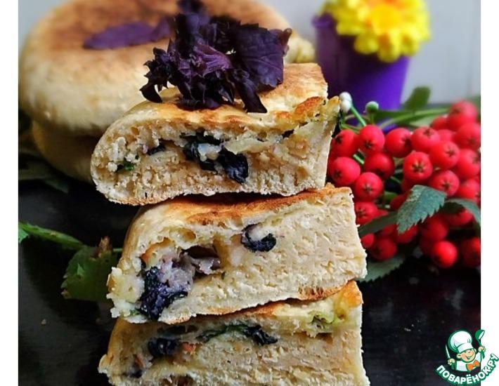 Рецепт: Лепешки с сыром и базиликом