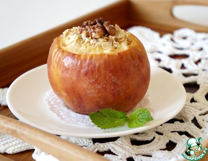 Рецепт: Чизкейк в яблоке