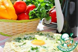 Рецепт: Лепешка к завтраку Семейная