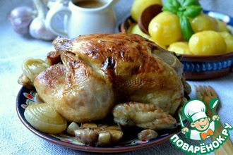 Рецепт: Запеченная имбирная курица