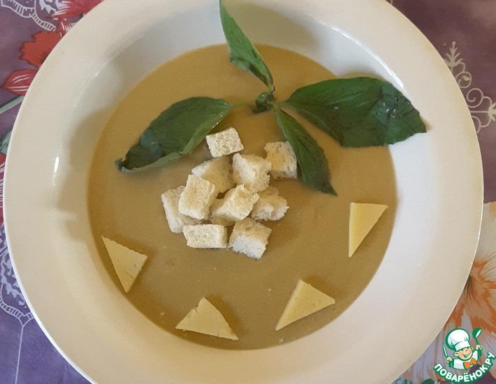 Рецепт: Сырный суп-пюре сытный