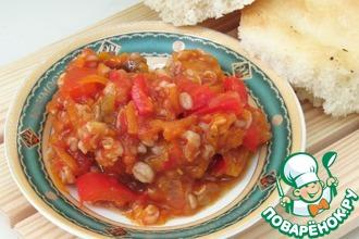 Рецепт: Салат с овощами и полбой на зиму
