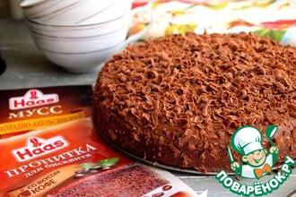 Рецепт: Шоколадно-творожный торт