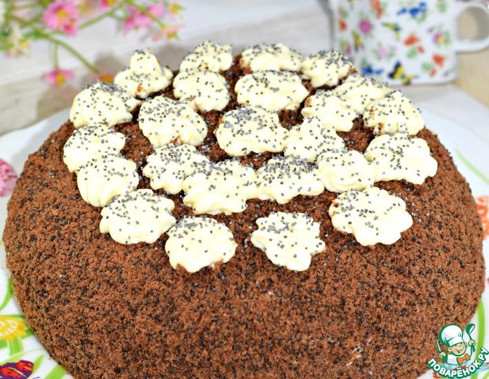 Рецепт: Торт шоколадный Маковник