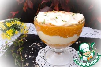 Рецепт: Персиковый десерт с творожным сыром