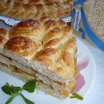 Хлеб Плетеное солнышко для семейного завтрака