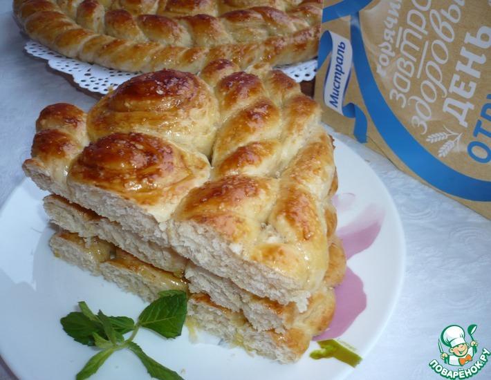 Рецепт: Хлеб Плетеное солнышко для семейного завтрака