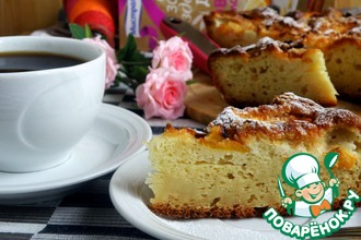 Рецепт: Быстрый персиковый пирог