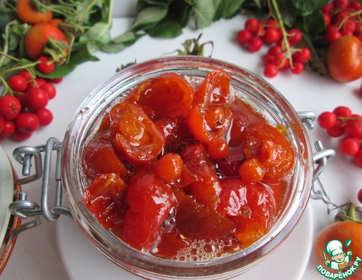 Рецепт: Варенье из шиповника с красной рябиной