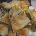 Лаваш с печенью, запеченный в духовке